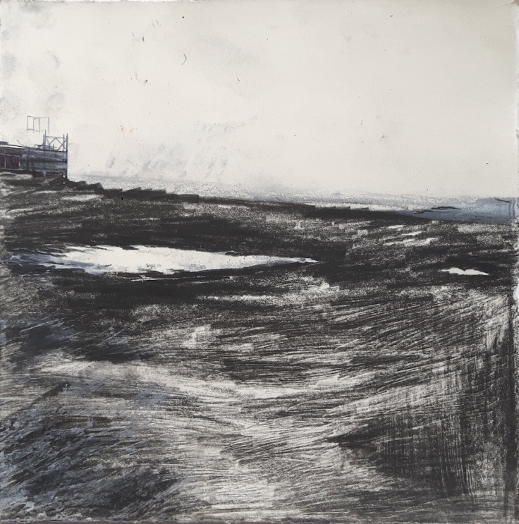 Distant Scaffold, Iceland_DRAWING_LoRes_2018_JennyRoss